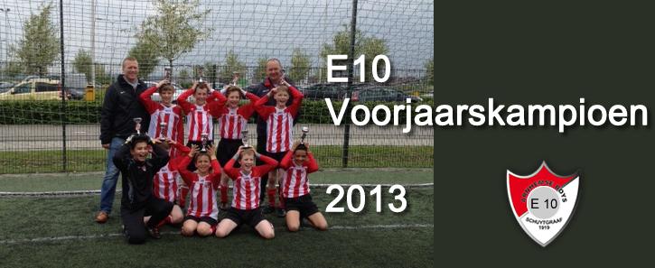 E10 Voorjaars kampioen 2013 Header