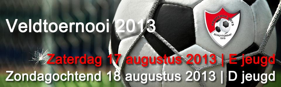 Veldtoernooi E en D jeugd 2013