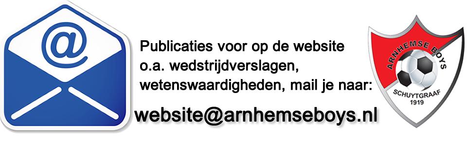 Nieuw adres voor website@arnhemseboys.nl
