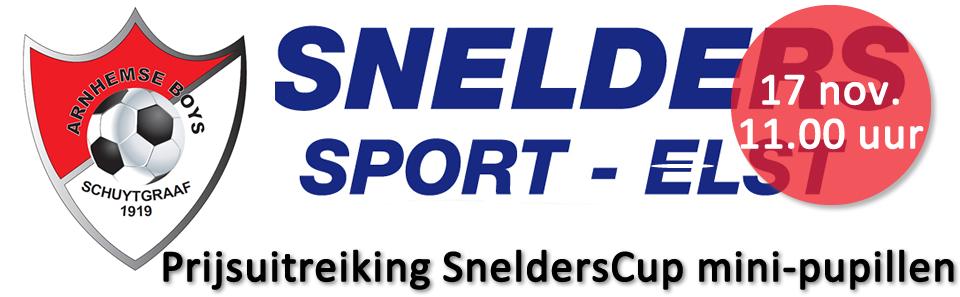 Snelderscup Mini-Pupillen ArnhemseBoys prijsuitreiking