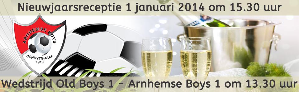 Nieuwjaarsreceptie 2014 - wedstrijd old boys - arnhemseboys