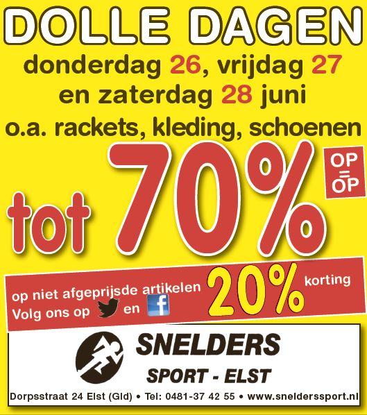 Snelders Dolle Dagen Actie