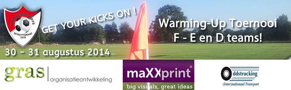 Warming up toernooi 30-31 augustus 2014