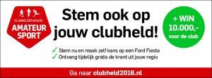 Verkiezing Clubhelden van de Amateursport