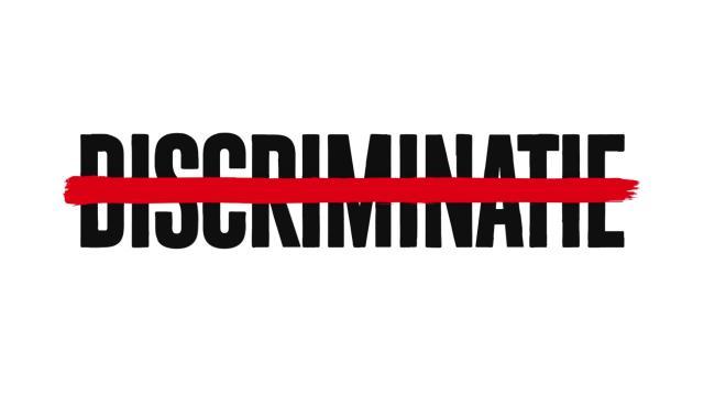 zet een streep door discriminatie