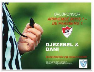 sponsor wedstrijdbal