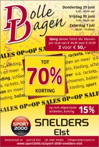 Zomer Dolle Dagen | Snelders Sport Elst