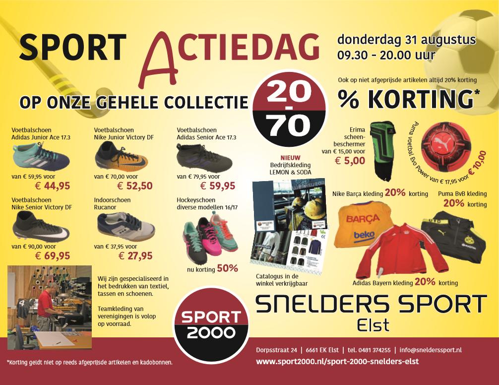 Snelders Sport Elst actiedag