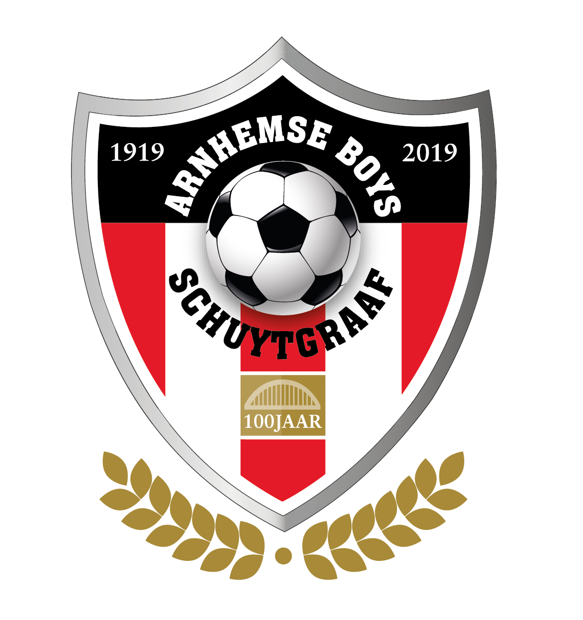 Jubileum Logo 100 jaar Arnhemse Boys Schuytgraaf