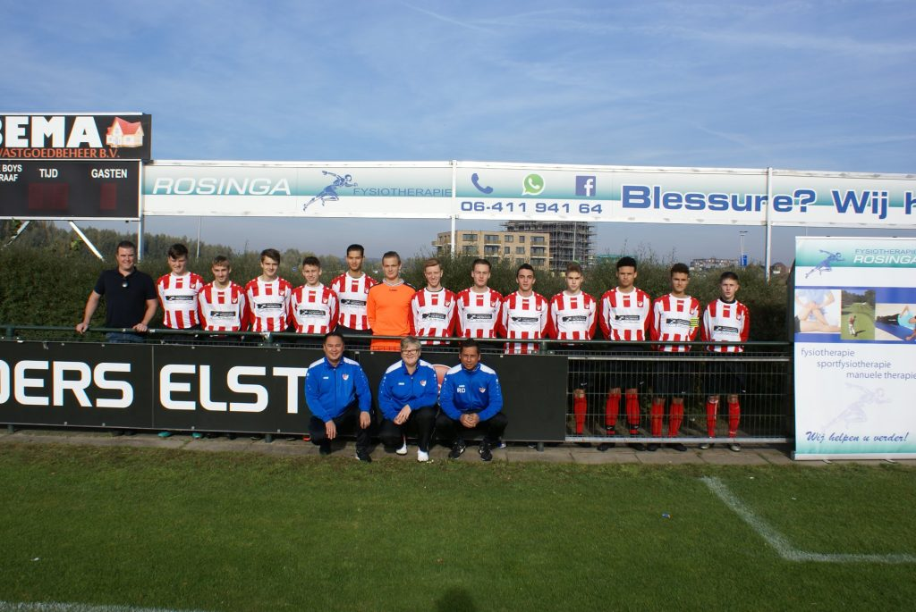 Fysiotherapie Rosinga sponsor van de Arnhemse Boys Schuytgraaf JO19-1