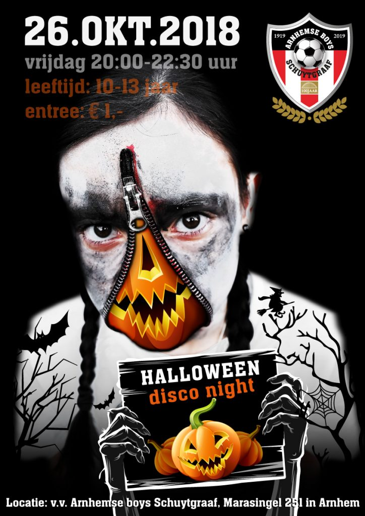 Halloween Disco Night Arnhemse Boys Schuytgraaf