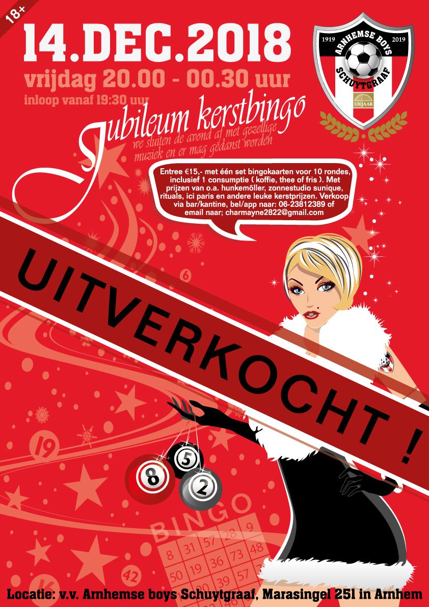 Kerstbingo Arnhemse Boys Schuytgraaf uitverkocht