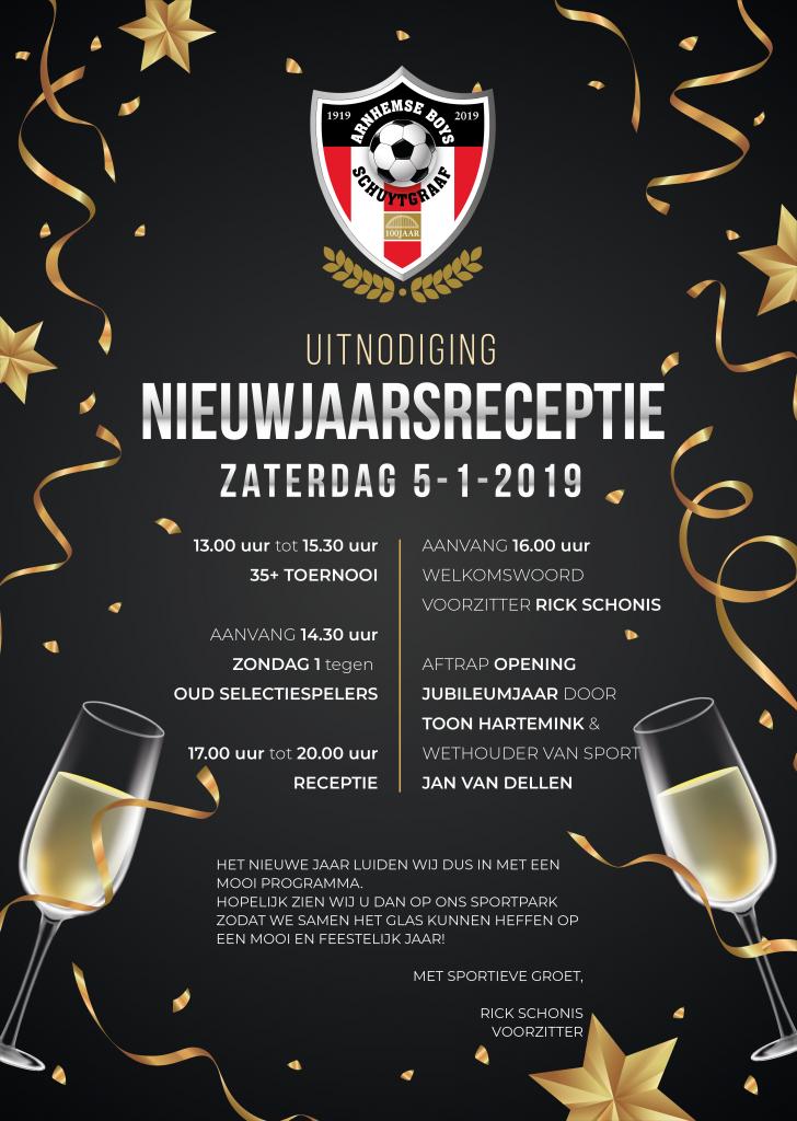 Nieuwjaarsreceptie Arnhemse Boys Schuytgraaf