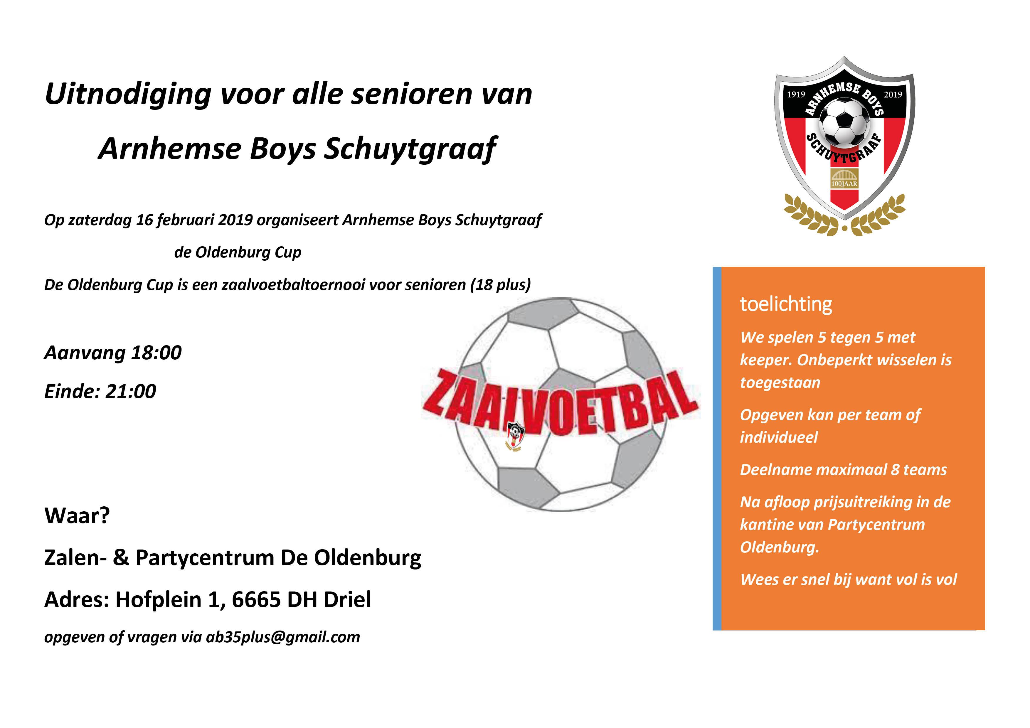 De Oldenburg Cup - Arnhemse Boys Schuytgraaf